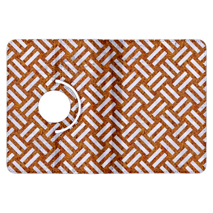 WOVEN2 WHITE MARBLE & RUSTED METAL Kindle Fire HDX Flip 360 Case