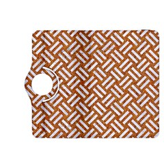 Woven2 White Marble & Rusted Metal Kindle Fire Hdx 8 9  Flip 360 Case