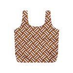 WOVEN2 WHITE MARBLE & RUSTED METAL Full Print Recycle Bags (S)  Front