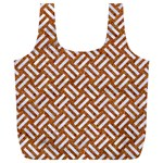 WOVEN2 WHITE MARBLE & RUSTED METAL Full Print Recycle Bags (L)  Front