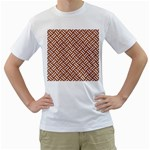WOVEN2 WHITE MARBLE & RUSTED METAL Men s T-Shirt (White)  Front
