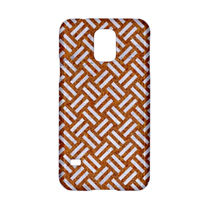 WOVEN2 WHITE MARBLE & RUSTED METAL Samsung Galaxy S5 Hardshell Case