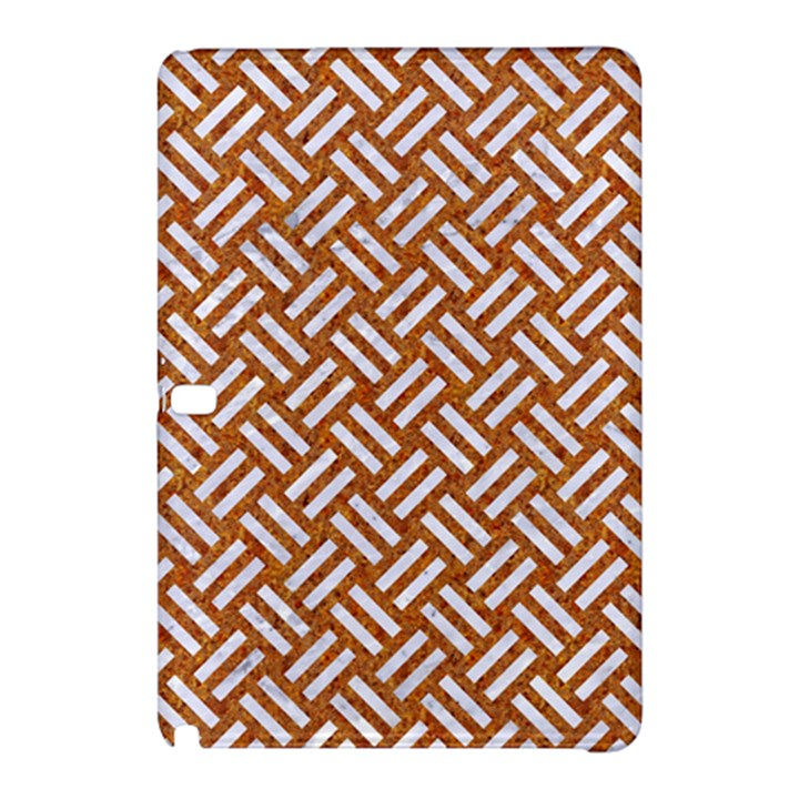 WOVEN2 WHITE MARBLE & RUSTED METAL Samsung Galaxy Tab Pro 10.1 Hardshell Case