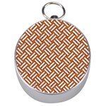 WOVEN2 WHITE MARBLE & RUSTED METAL Silver Compasses Front