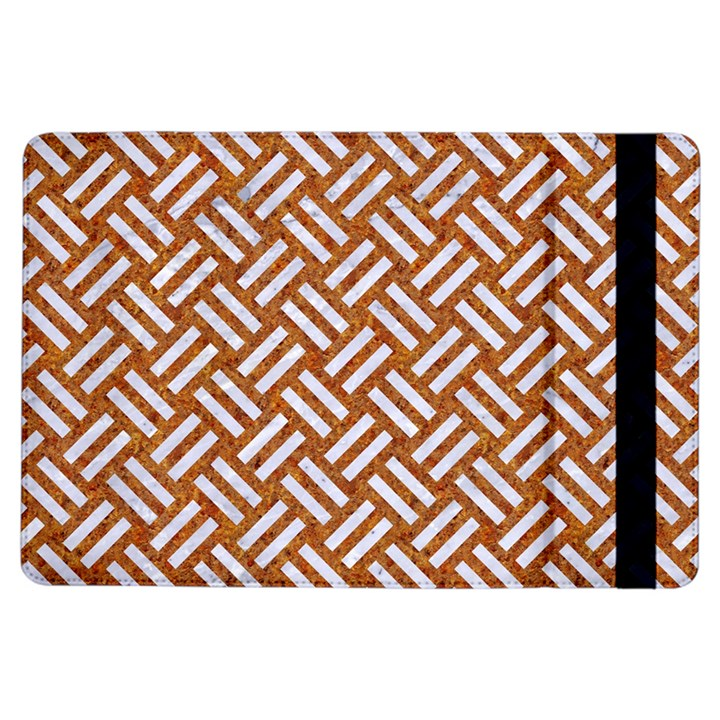 WOVEN2 WHITE MARBLE & RUSTED METAL iPad Air Flip