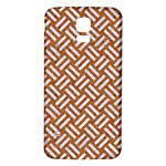 WOVEN2 WHITE MARBLE & RUSTED METAL Samsung Galaxy S5 Back Case (White) Front