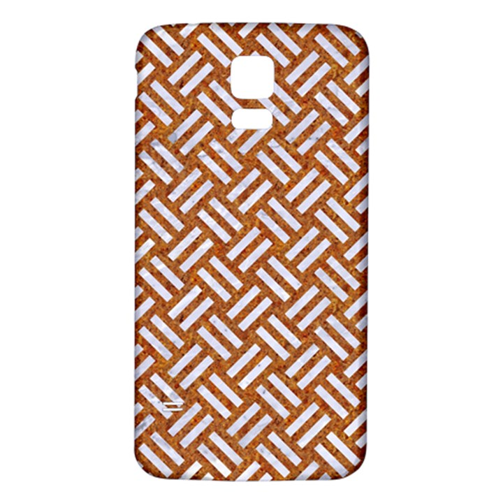WOVEN2 WHITE MARBLE & RUSTED METAL Samsung Galaxy S5 Back Case (White)