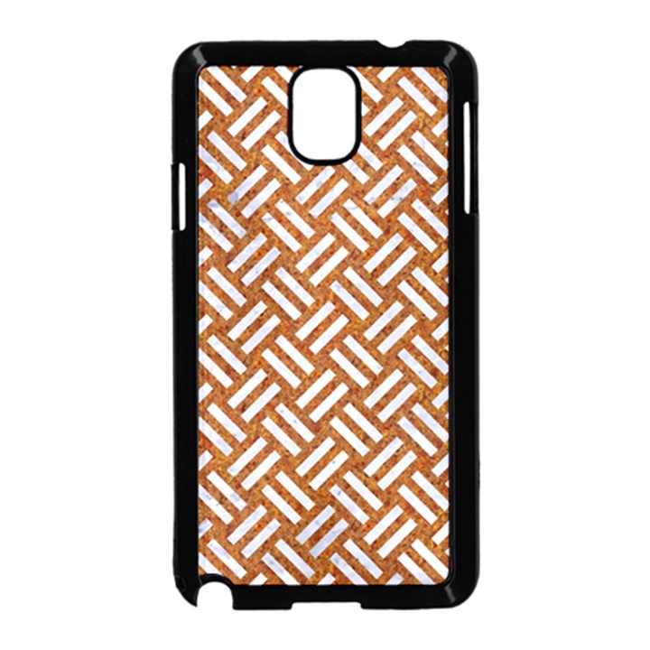 WOVEN2 WHITE MARBLE & RUSTED METAL Samsung Galaxy Note 3 Neo Hardshell Case (Black)