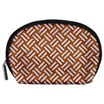 WOVEN2 WHITE MARBLE & RUSTED METAL Accessory Pouches (Large)  Front