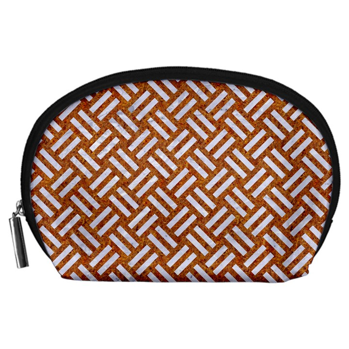 WOVEN2 WHITE MARBLE & RUSTED METAL Accessory Pouches (Large)