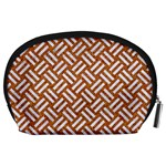 WOVEN2 WHITE MARBLE & RUSTED METAL Accessory Pouches (Large)  Back
