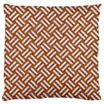 WOVEN2 WHITE MARBLE & RUSTED METAL Standard Flano Cushion Case (Two Sides) Back