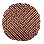 WOVEN2 WHITE MARBLE & RUSTED METAL Large 18  Premium Flano Round Cushions Back