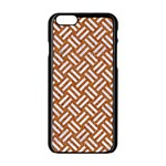 WOVEN2 WHITE MARBLE & RUSTED METAL Apple iPhone 6/6S Black Enamel Case Front