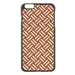 WOVEN2 WHITE MARBLE & RUSTED METAL Apple iPhone 6 Plus/6S Plus Black Enamel Case Front
