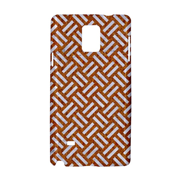 WOVEN2 WHITE MARBLE & RUSTED METAL Samsung Galaxy Note 4 Hardshell Case