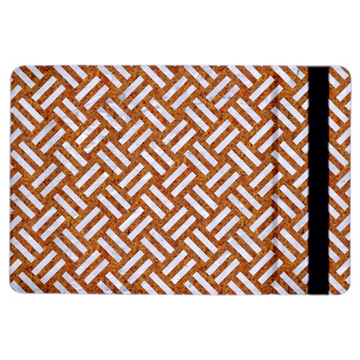 WOVEN2 WHITE MARBLE & RUSTED METAL iPad Air 2 Flip
