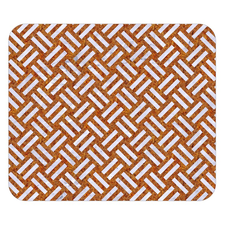 WOVEN2 WHITE MARBLE & RUSTED METAL Double Sided Flano Blanket (Small)