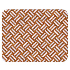Woven2 White Marble & Rusted Metal Double Sided Flano Blanket (medium)