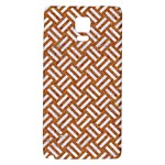 WOVEN2 WHITE MARBLE & RUSTED METAL Galaxy Note 4 Back Case Front