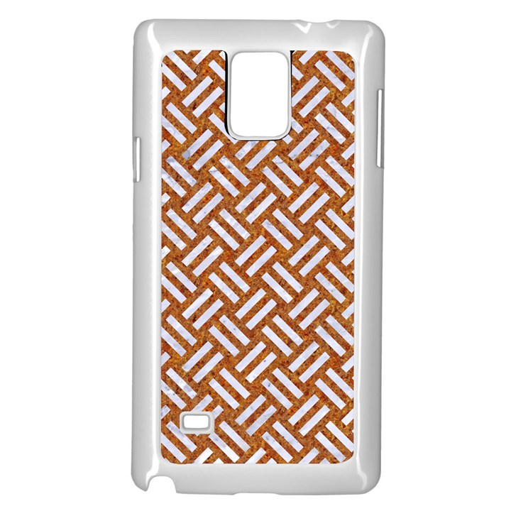 WOVEN2 WHITE MARBLE & RUSTED METAL Samsung Galaxy Note 4 Case (White)