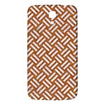 WOVEN2 WHITE MARBLE & RUSTED METAL Samsung Galaxy Mega I9200 Hardshell Back Case Front