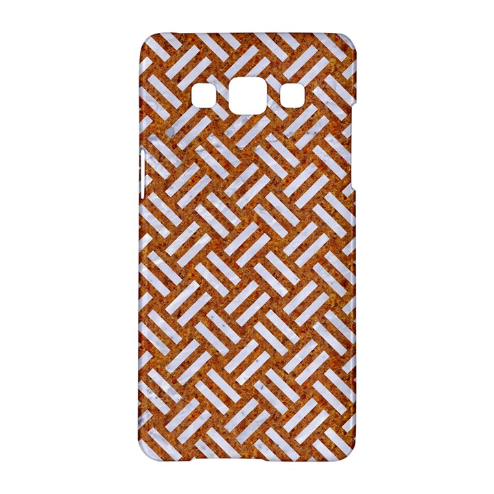 WOVEN2 WHITE MARBLE & RUSTED METAL Samsung Galaxy A5 Hardshell Case