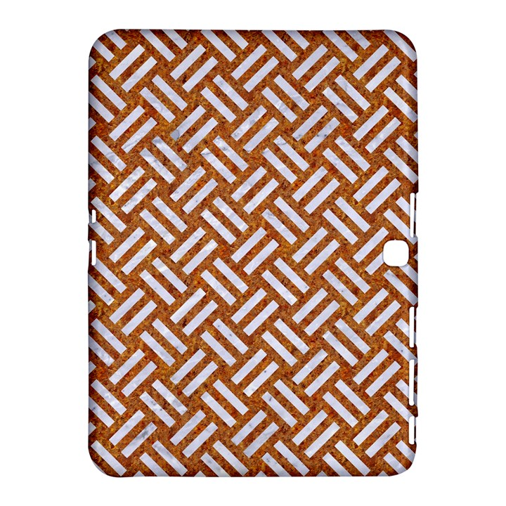 WOVEN2 WHITE MARBLE & RUSTED METAL Samsung Galaxy Tab 4 (10.1 ) Hardshell Case