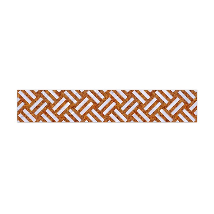 WOVEN2 WHITE MARBLE & RUSTED METAL Flano Scarf (Mini)