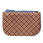 WOVEN2 WHITE MARBLE & RUSTED METAL Large Coin Purse Front