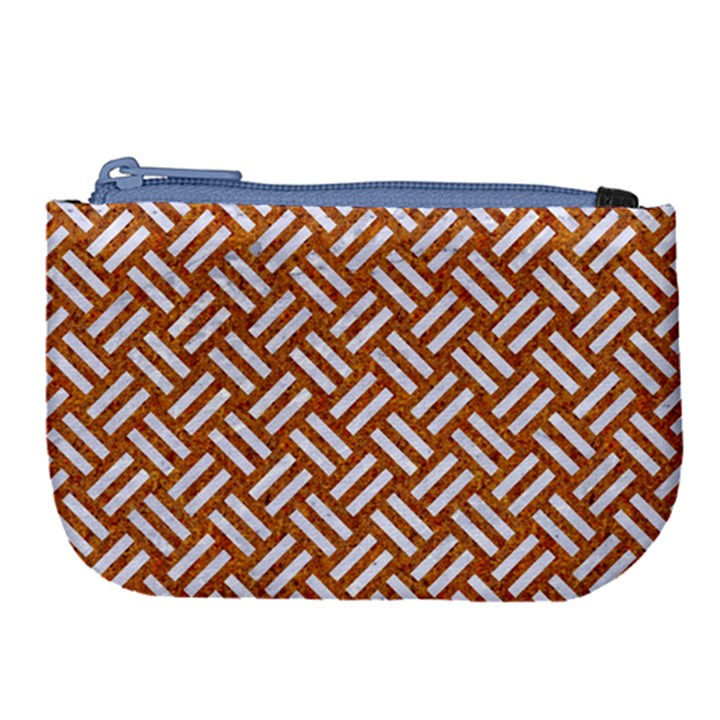 WOVEN2 WHITE MARBLE & RUSTED METAL Large Coin Purse