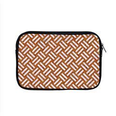 Woven2 White Marble & Rusted Metal Apple Macbook Pro 15  Zipper Case