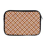 WOVEN2 WHITE MARBLE & RUSTED METAL Apple MacBook Pro 17  Zipper Case Front