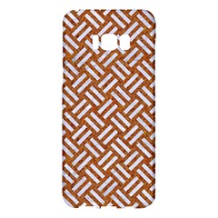 Woven2 White Marble & Rusted Metal Samsung Galaxy S8 Plus Hardshell Case
