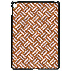 Woven2 White Marble & Rusted Metal Apple Ipad Pro 9 7   Black Seamless Case