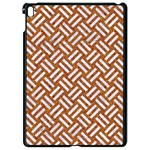 WOVEN2 WHITE MARBLE & RUSTED METAL Apple iPad Pro 9.7   Black Seamless Case Front