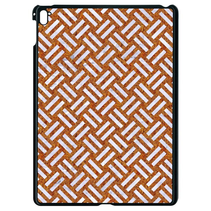 WOVEN2 WHITE MARBLE & RUSTED METAL Apple iPad Pro 9.7   Black Seamless Case