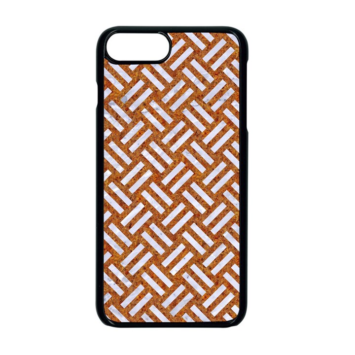 WOVEN2 WHITE MARBLE & RUSTED METAL Apple iPhone 8 Plus Seamless Case (Black)