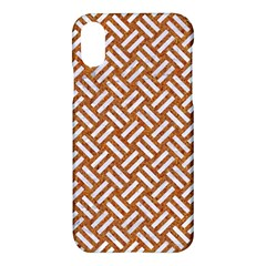 Woven2 White Marble & Rusted Metal Apple Iphone X Hardshell Case
