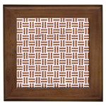 WOVEN1 WHITE MARBLE & RUSTED METAL (R) Framed Tiles Front