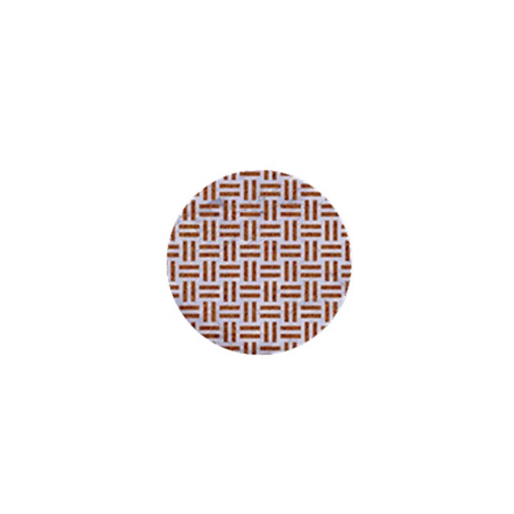 WOVEN1 WHITE MARBLE & RUSTED METAL (R) 1  Mini Magnets