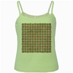 WOVEN1 WHITE MARBLE & RUSTED METAL (R) Green Spaghetti Tank Front