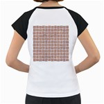 WOVEN1 WHITE MARBLE & RUSTED METAL (R) Women s Cap Sleeve T Back