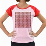WOVEN1 WHITE MARBLE & RUSTED METAL (R) Women s Cap Sleeve T-Shirt Front