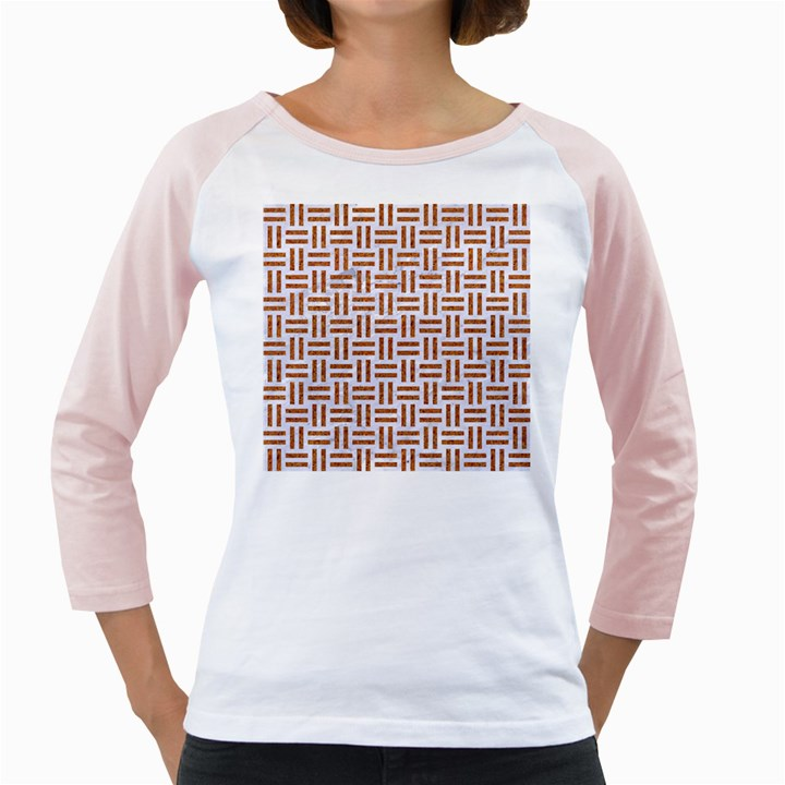 WOVEN1 WHITE MARBLE & RUSTED METAL (R) Girly Raglans