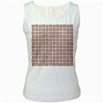 WOVEN1 WHITE MARBLE & RUSTED METAL (R) Women s White Tank Top Front
