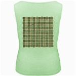 WOVEN1 WHITE MARBLE & RUSTED METAL (R) Women s Green Tank Top Back