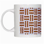 WOVEN1 WHITE MARBLE & RUSTED METAL (R) White Mugs Left