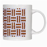 WOVEN1 WHITE MARBLE & RUSTED METAL (R) White Mugs Right
