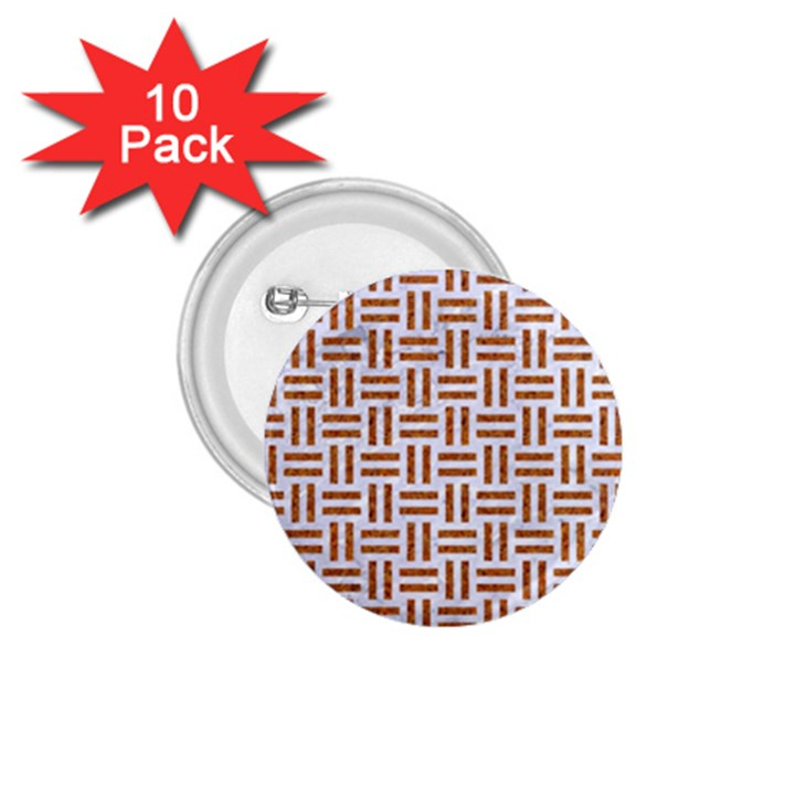 WOVEN1 WHITE MARBLE & RUSTED METAL (R) 1.75  Buttons (10 pack)